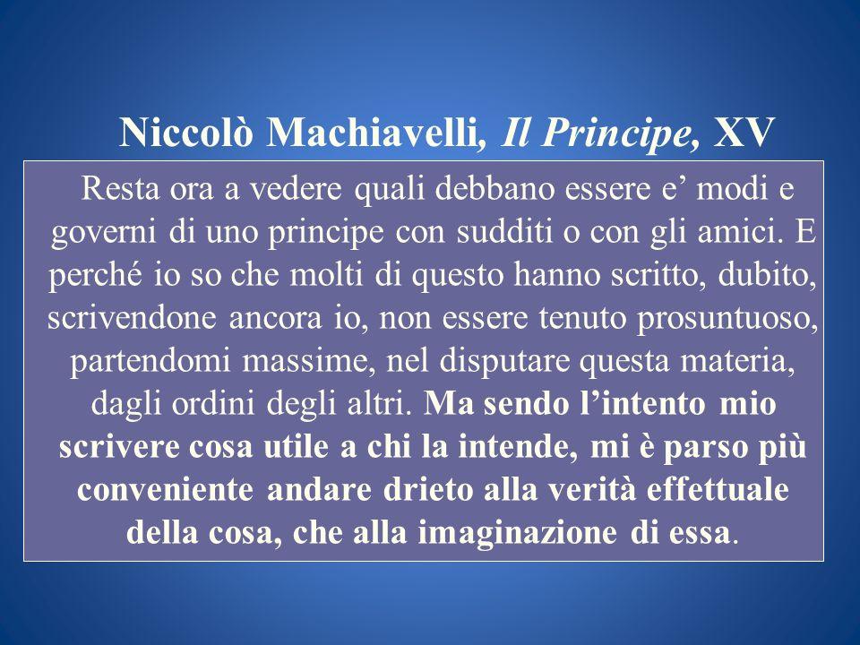 Niccolò Machiavelli, Il Principe, XV