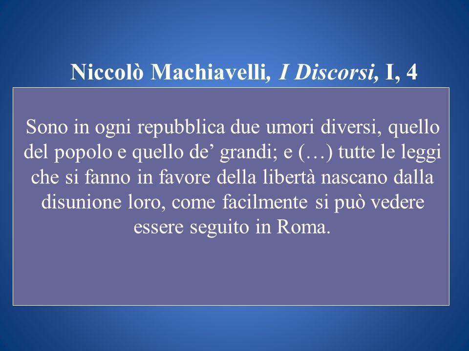 Niccolò Machiavelli, I Discorsi, I, 4