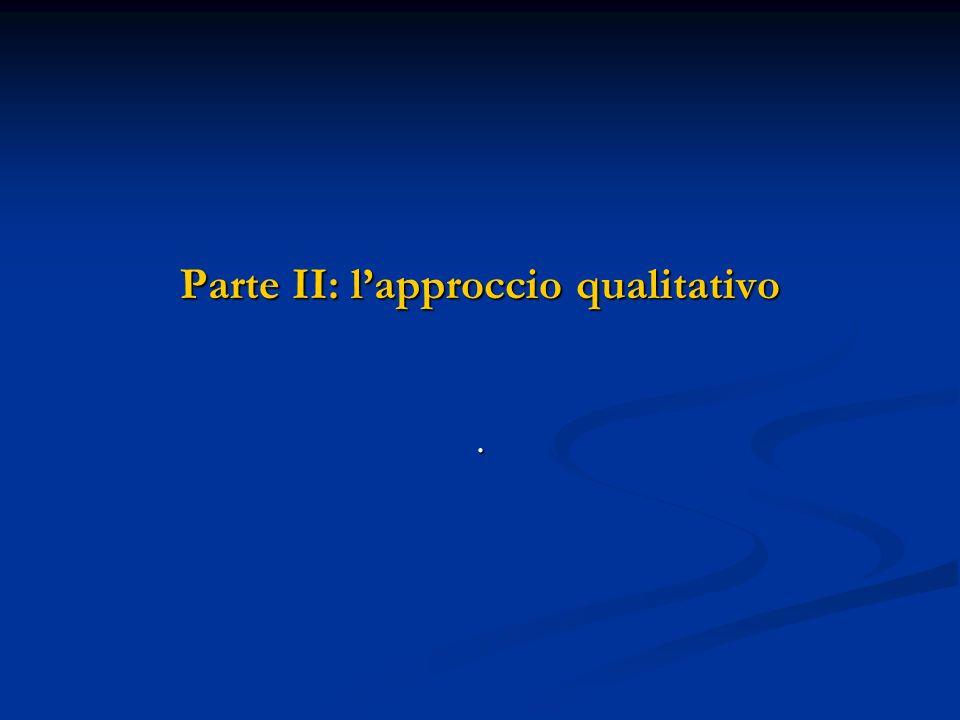 Parte II: l'approccio qualitativo
