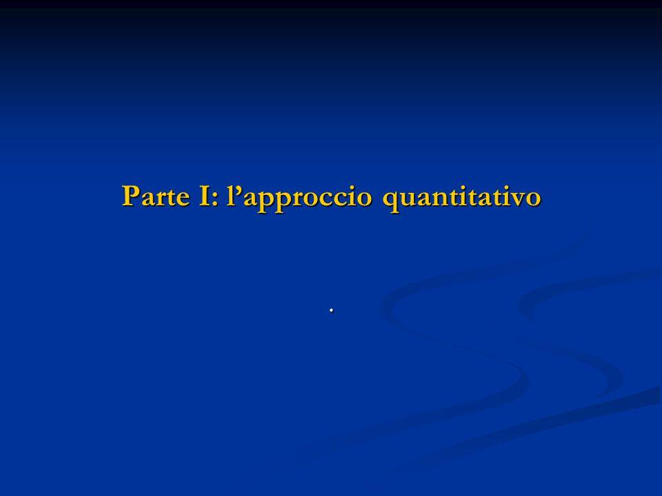 Parte I: l'approccio quantitativo