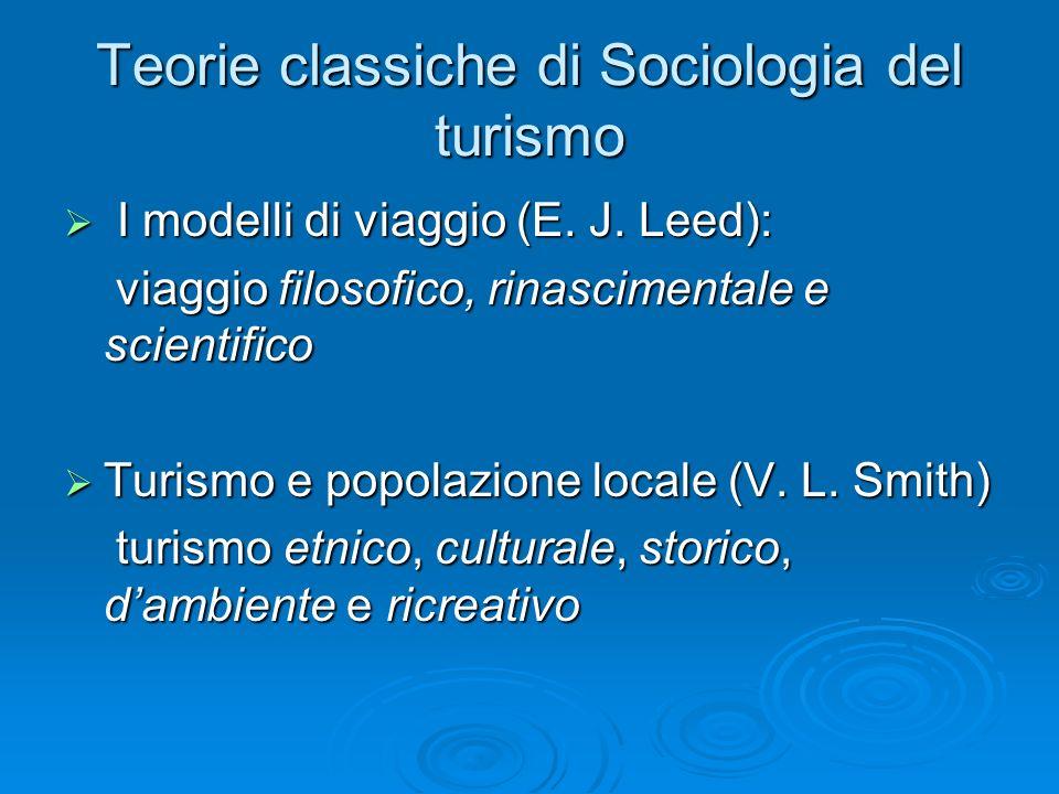 Teorie classiche di Sociologia del turismo