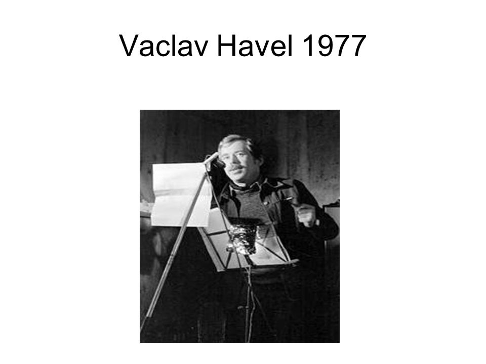 Vaclav Havel 1977