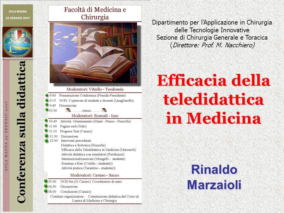 Efficacia della teledidattica in Medicina