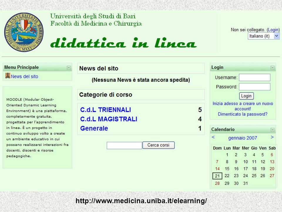 http://www.medicina.uniba.it/elearning/