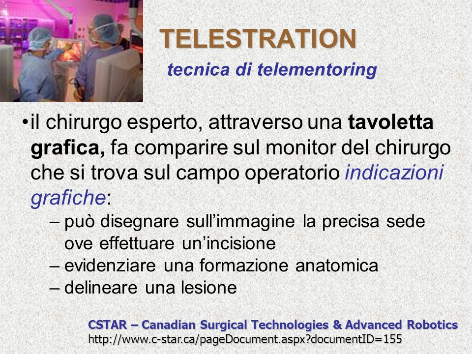TELESTRATION tecnica di telementoring.