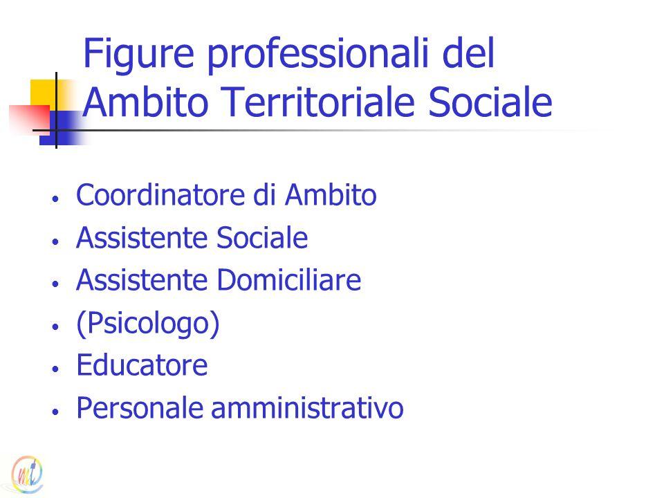 Figure professionali del Ambito Territoriale Sociale