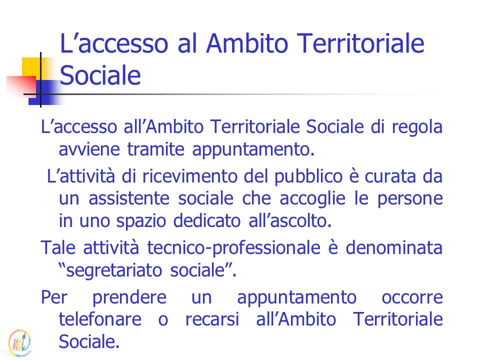 L'accesso al Ambito Territoriale Sociale