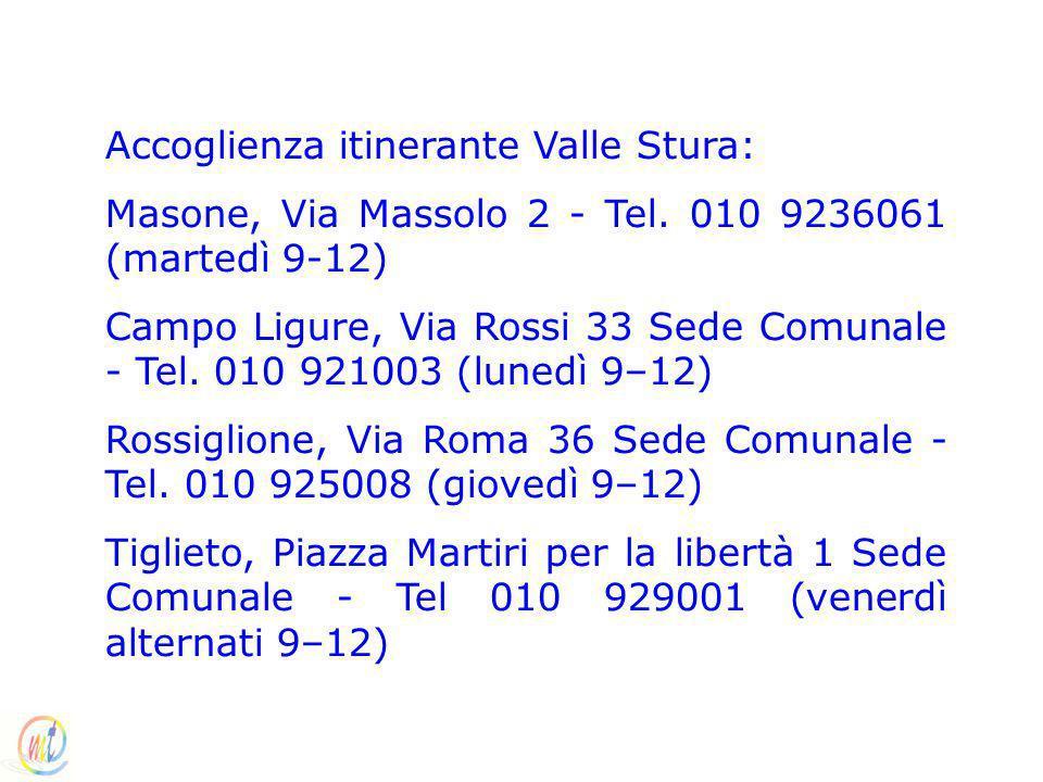 Accoglienza itinerante Valle Stura: