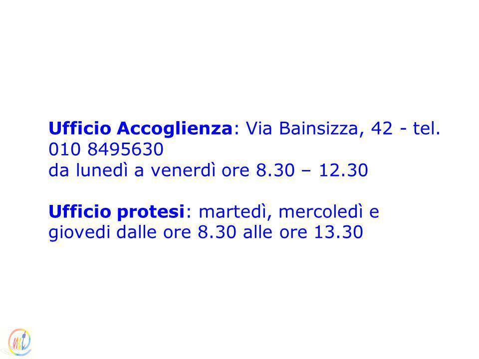 Ufficio Accoglienza: Via Bainsizza, 42 - tel