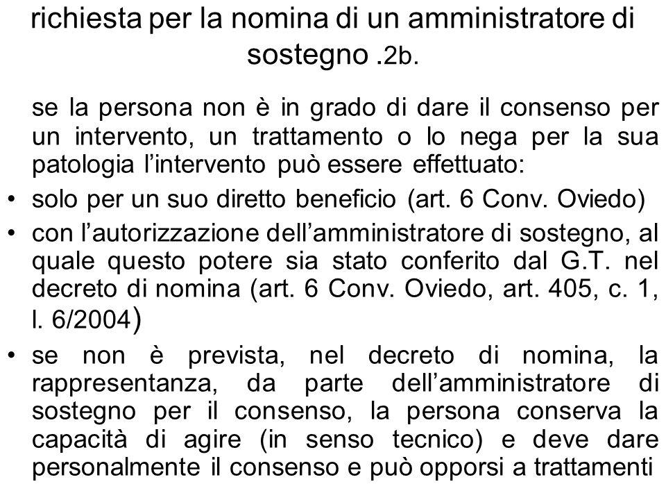 richiesta per la nomina di un amministratore di sostegno .2b.