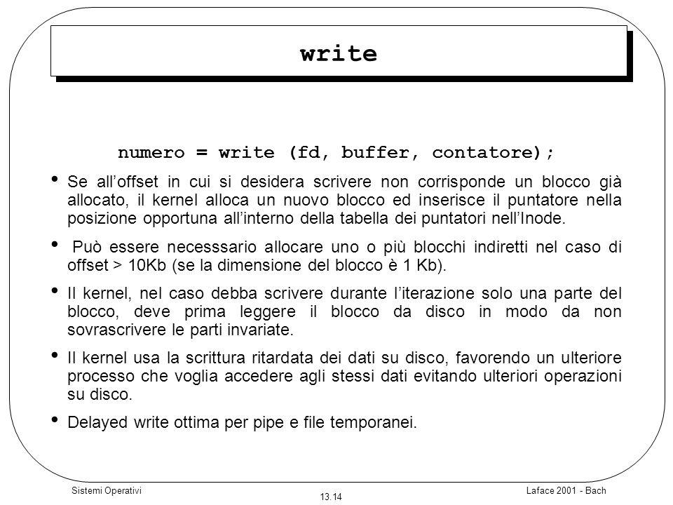 numero = write (fd, buffer, contatore);