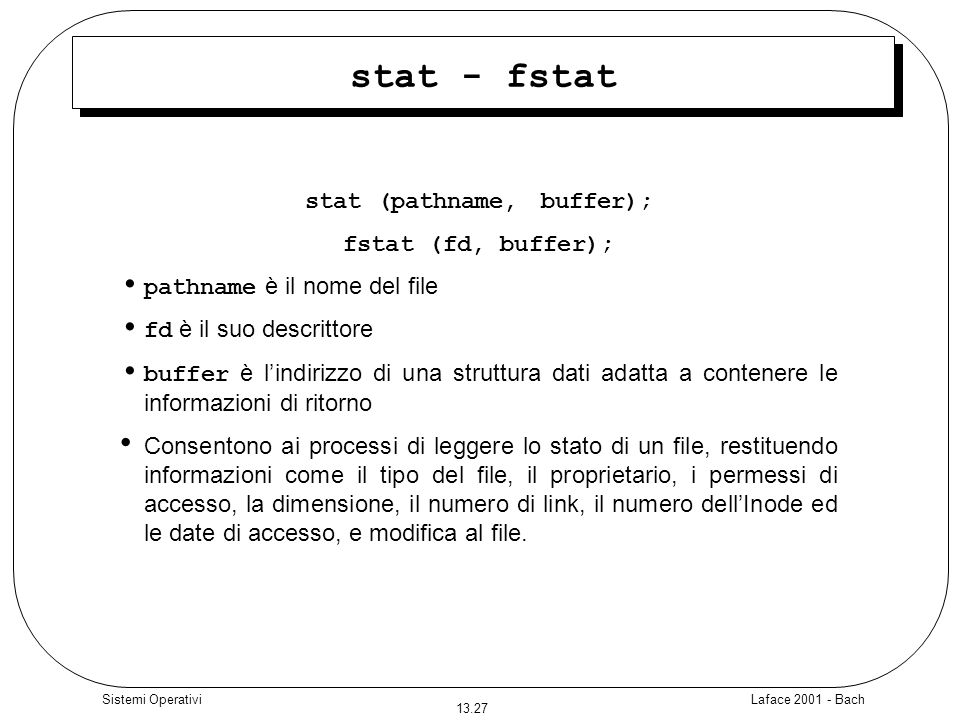 stat (pathname, buffer);