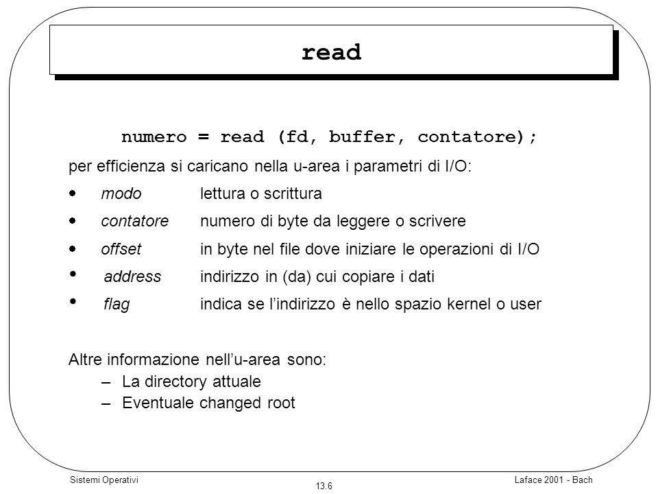 numero = read (fd, buffer, contatore);