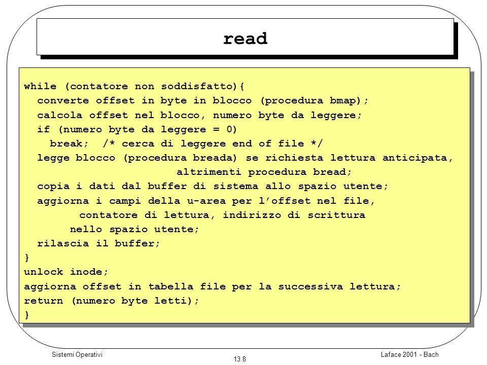 read while (contatore non soddisfatto){