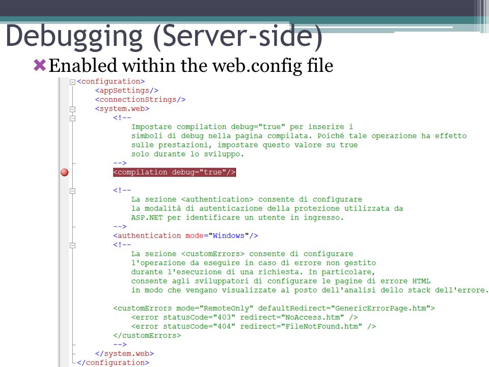 Debugging (Server-side)