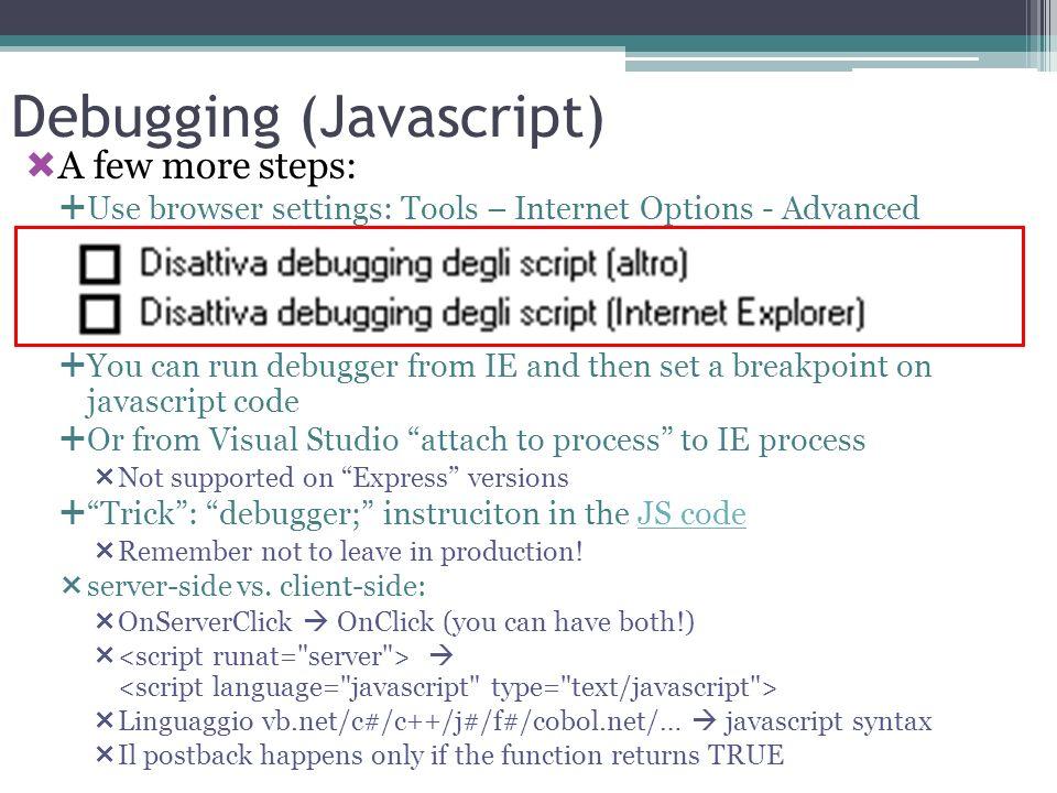 Debugging (Javascript)