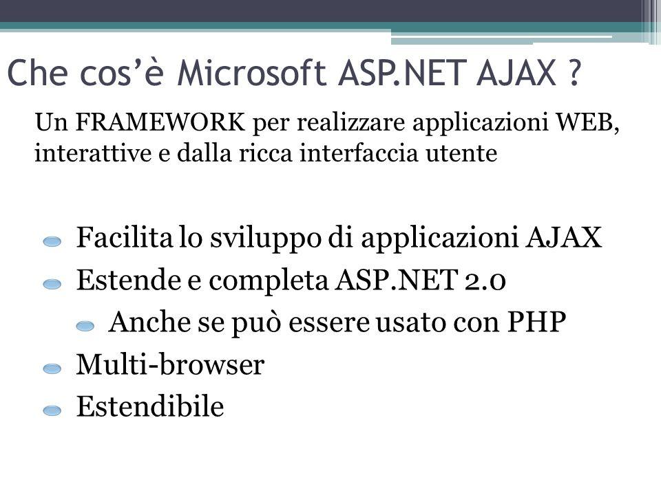 Che cos'è Microsoft ASP.NET AJAX