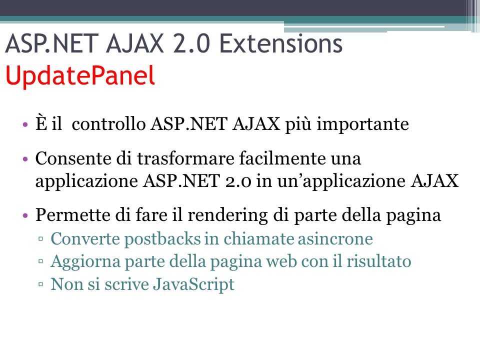 ASP.NET AJAX 2.0 Extensions UpdatePanel