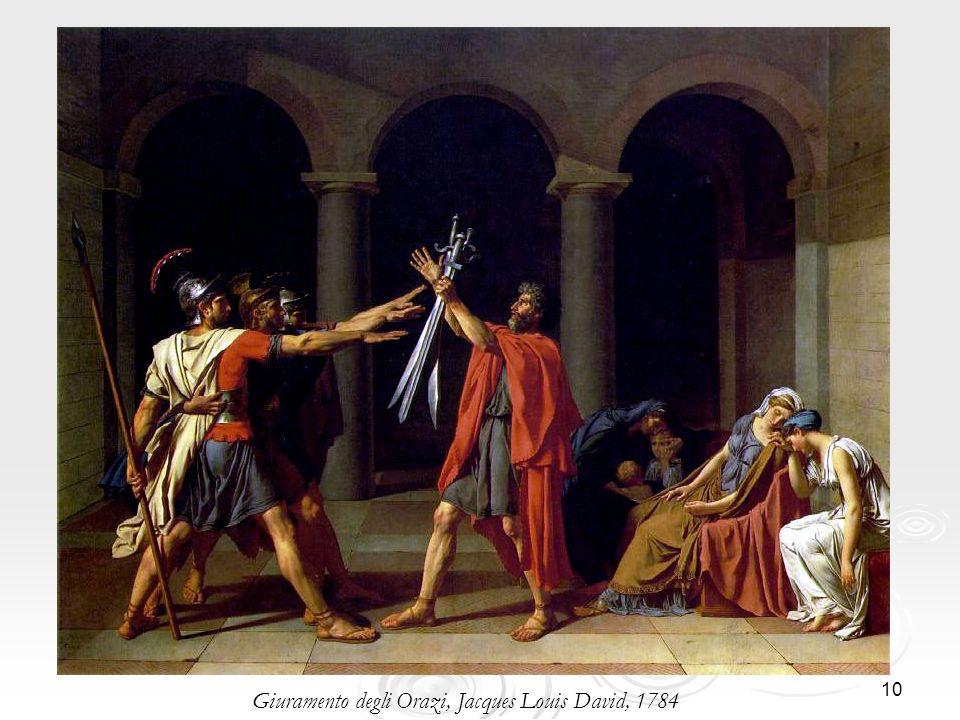 Giuramento degli Orazi, Jacques Louis David, 1784