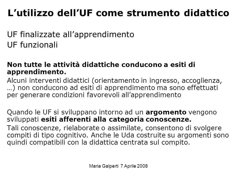 L'utilizzo dell'UF come strumento didattico