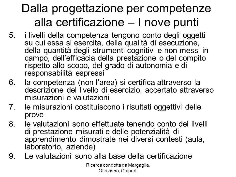 Dalla progettazione per competenze alla certificazione – I nove punti