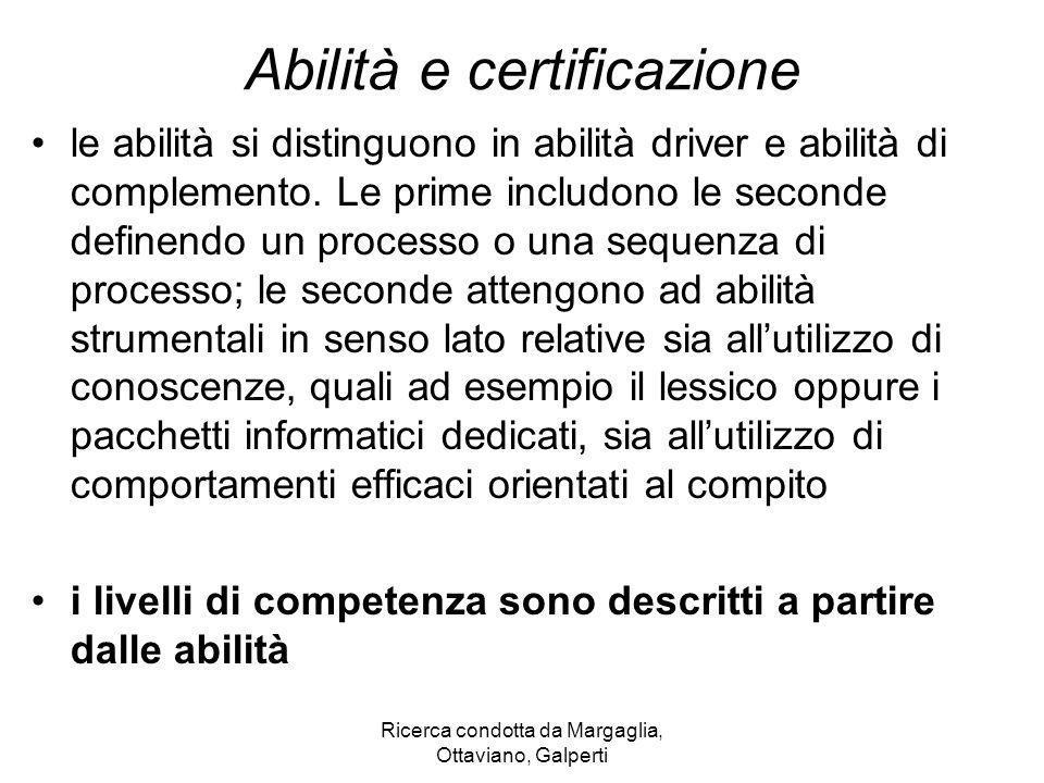 Abilità e certificazione
