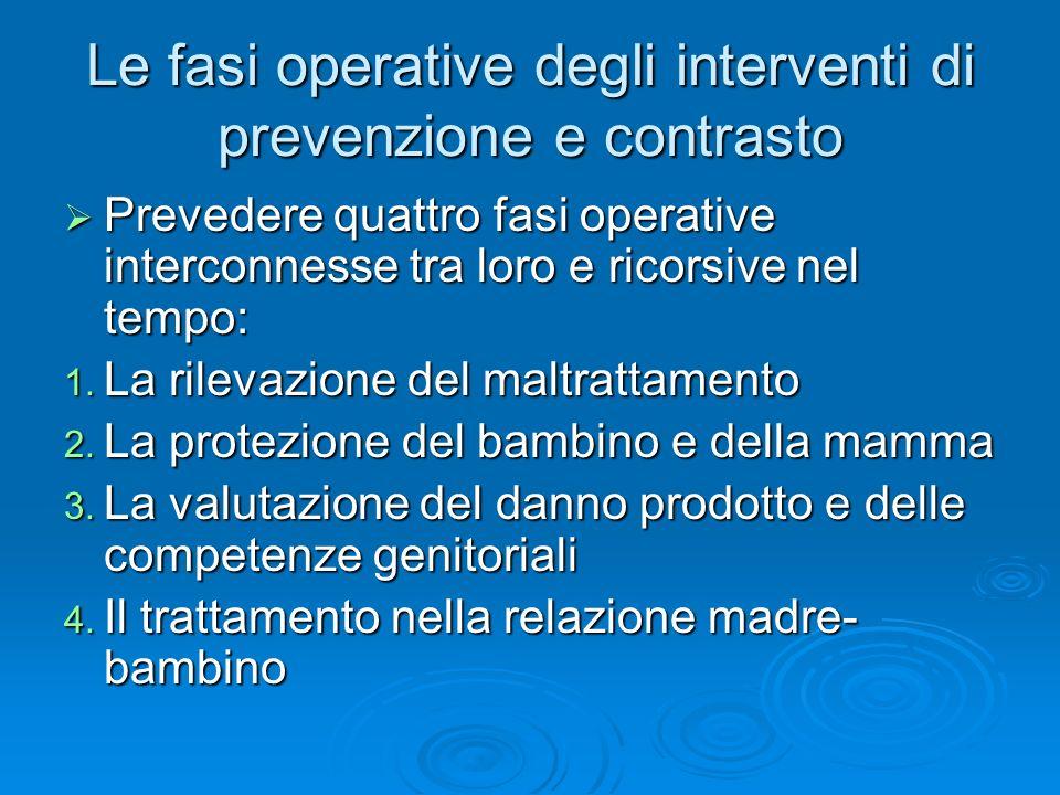 Le fasi operative degli interventi di prevenzione e contrasto