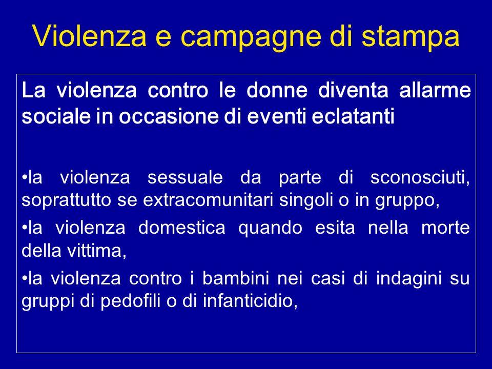 Violenza e campagne di stampa