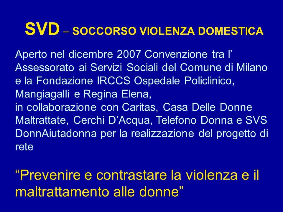 SVD – SOCCORSO VIOLENZA DOMESTICA