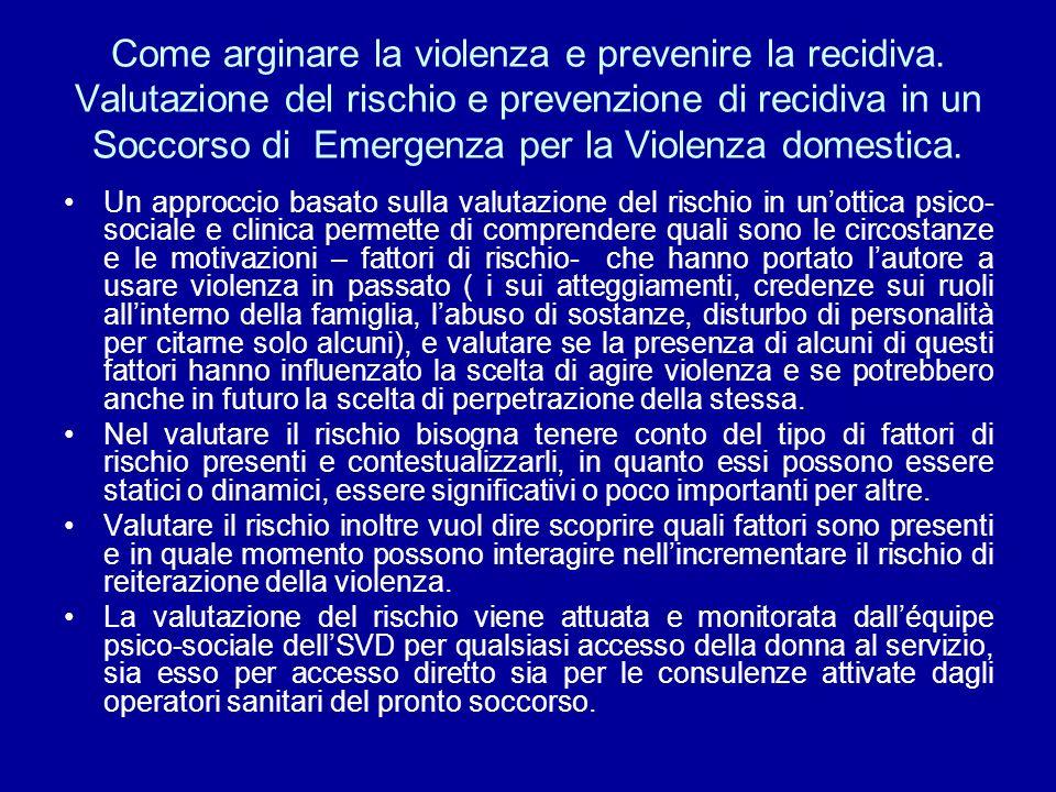 Come arginare la violenza e prevenire la recidiva
