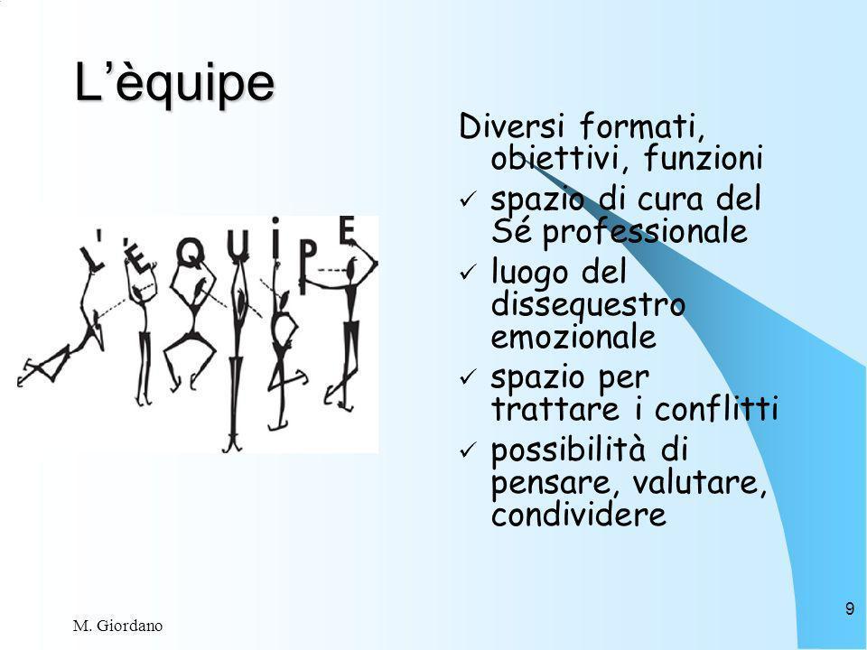 L'èquipe Diversi formati, obiettivi, funzioni