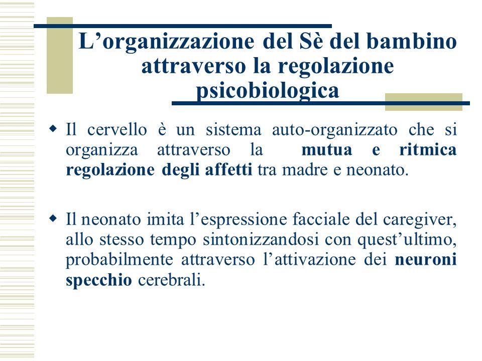 L'organizzazione del Sè del bambino attraverso la regolazione psicobiologica