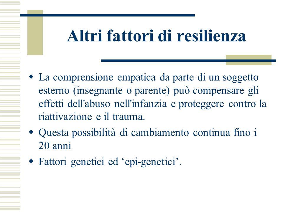 Altri fattori di resilienza