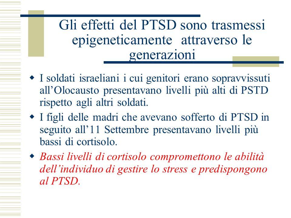 Gli effetti del PTSD sono trasmessi epigeneticamente attraverso le generazioni