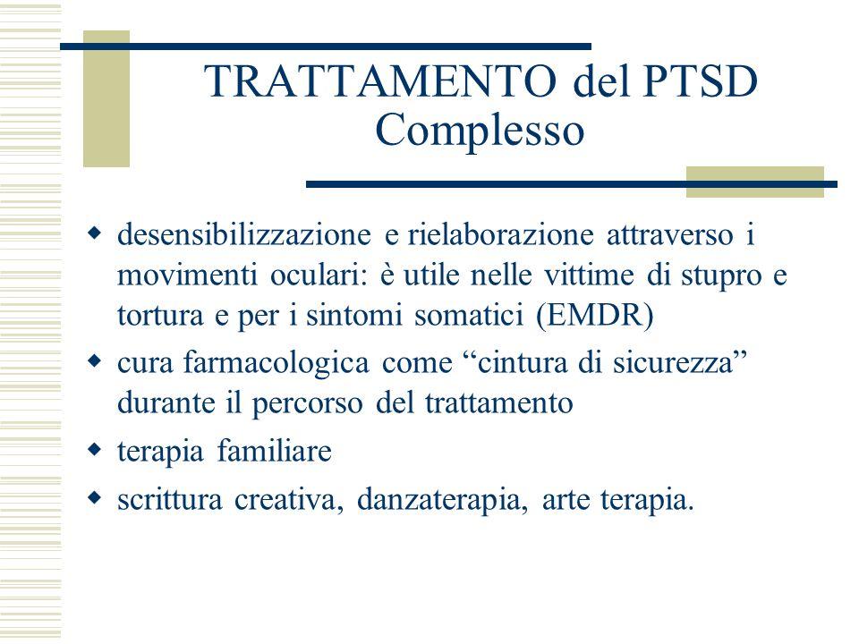 TRATTAMENTO del PTSD Complesso