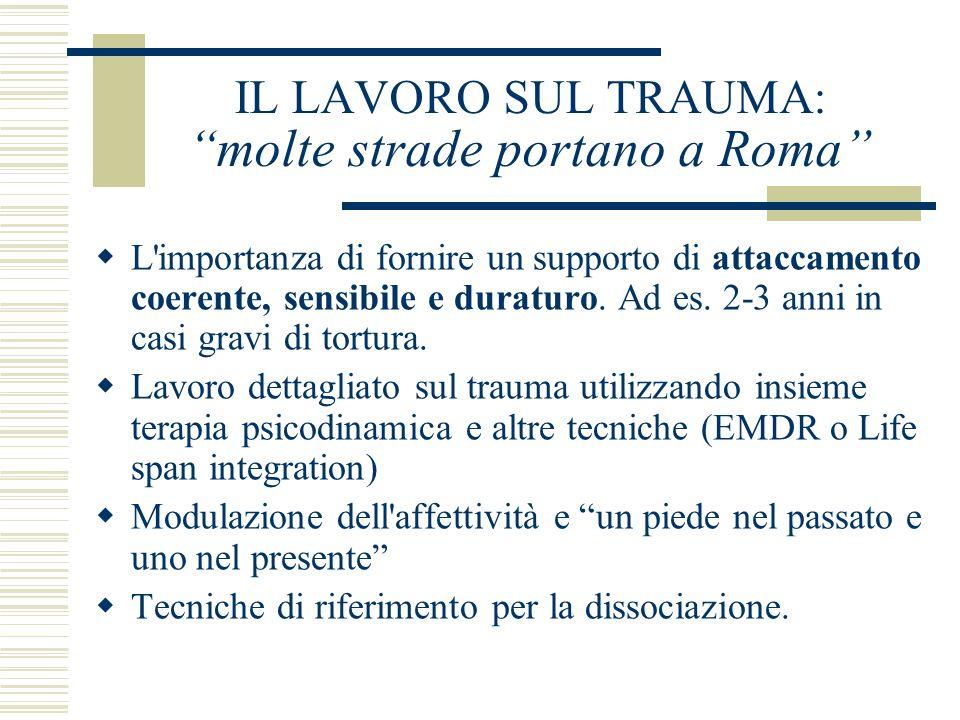 IL LAVORO SUL TRAUMA: molte strade portano a Roma