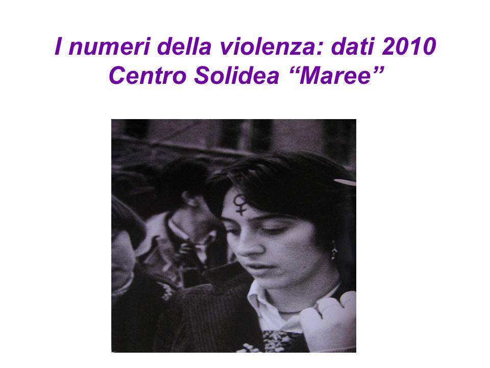 I numeri della violenza: dati 2010 Centro Solidea Maree