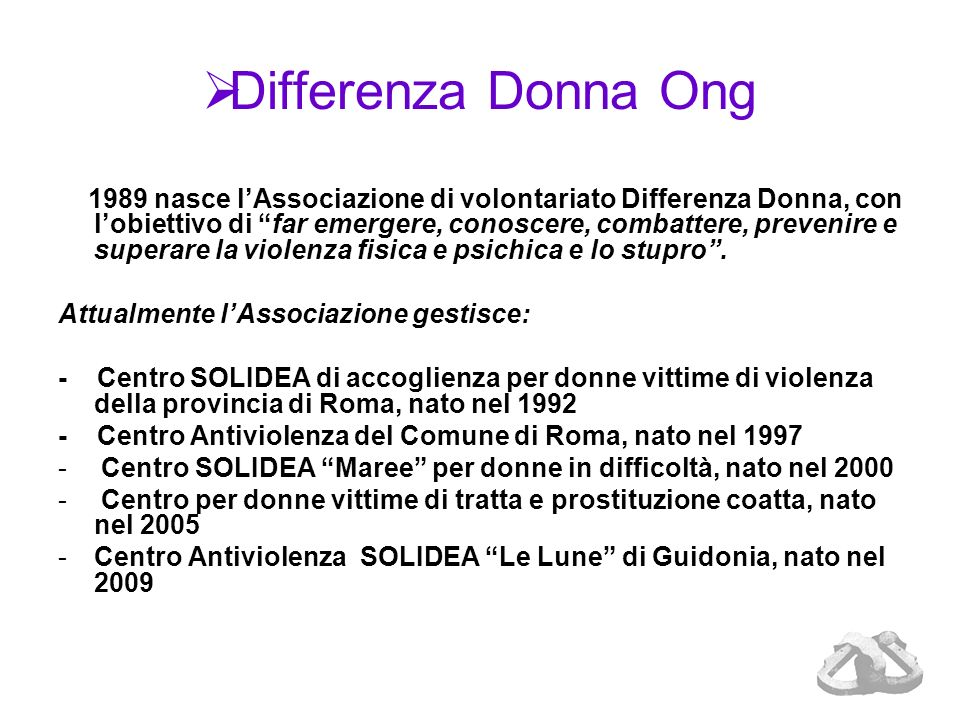 Differenza Donna Ong