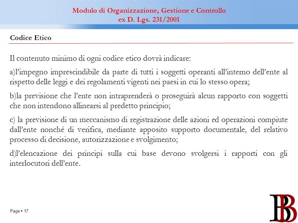 Modulo di Organizzazione, Gestione e Controllo