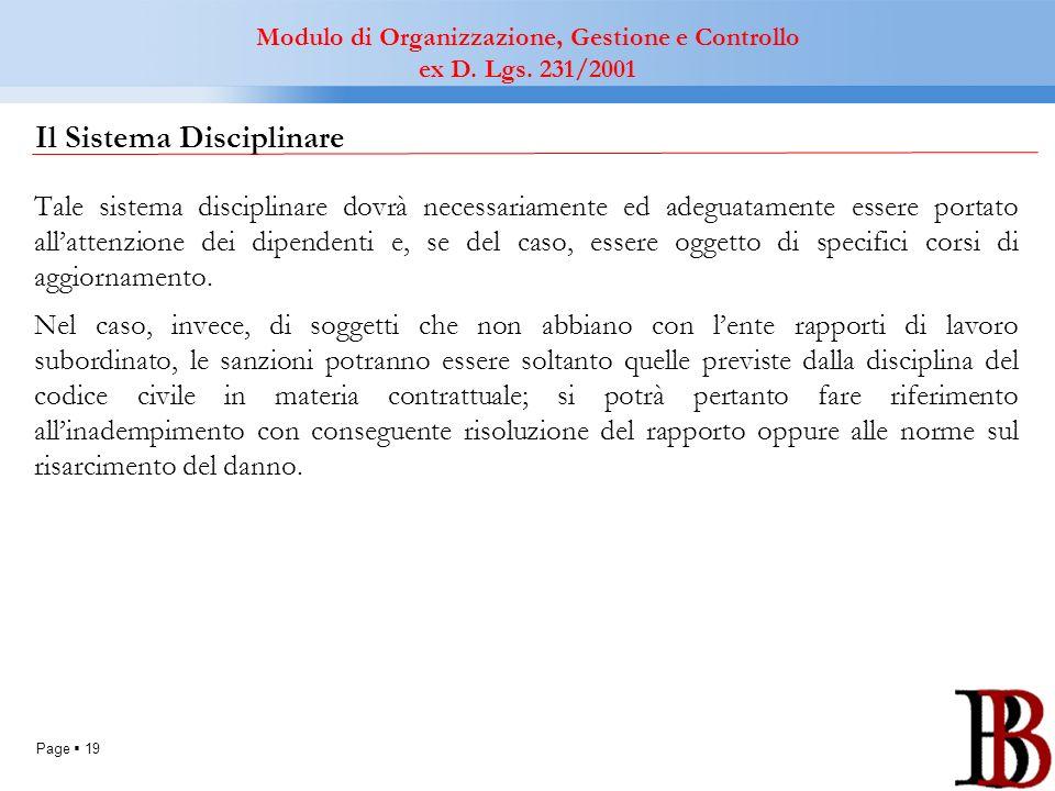 Il Sistema Disciplinare