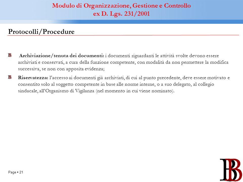 Protocolli/Procedure