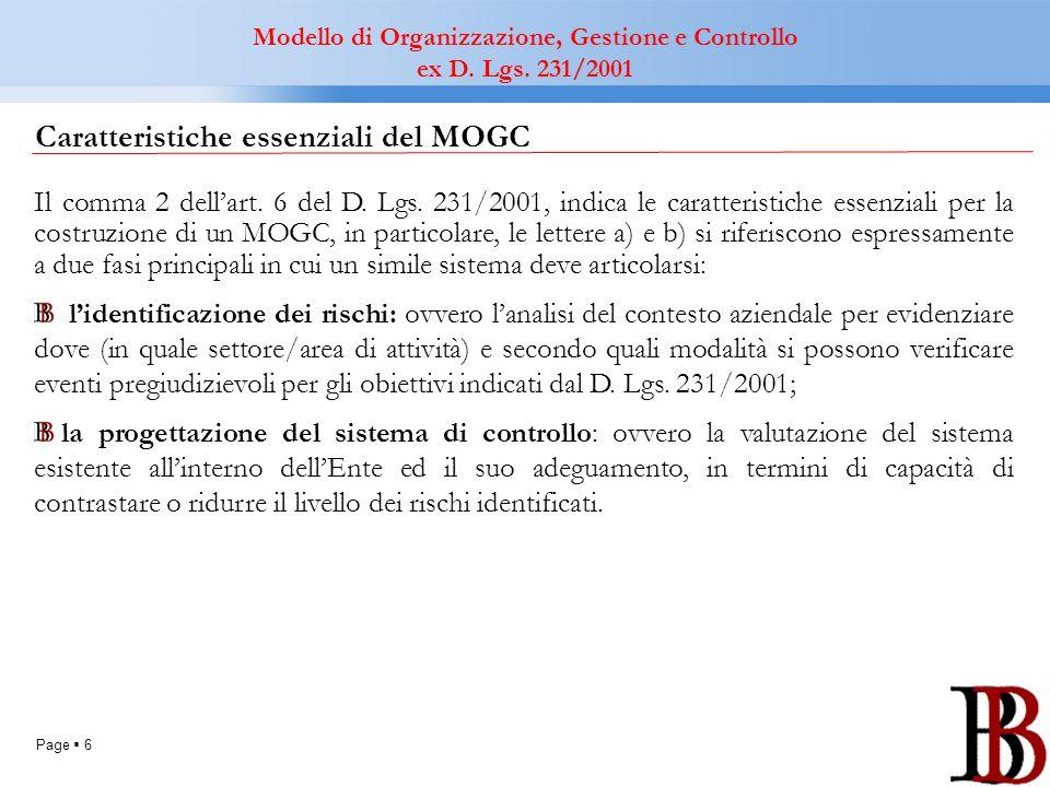 Caratteristiche essenziali del MOGC