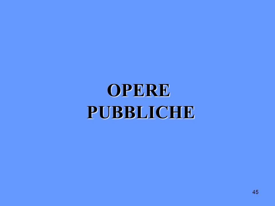 OPERE PUBBLICHE