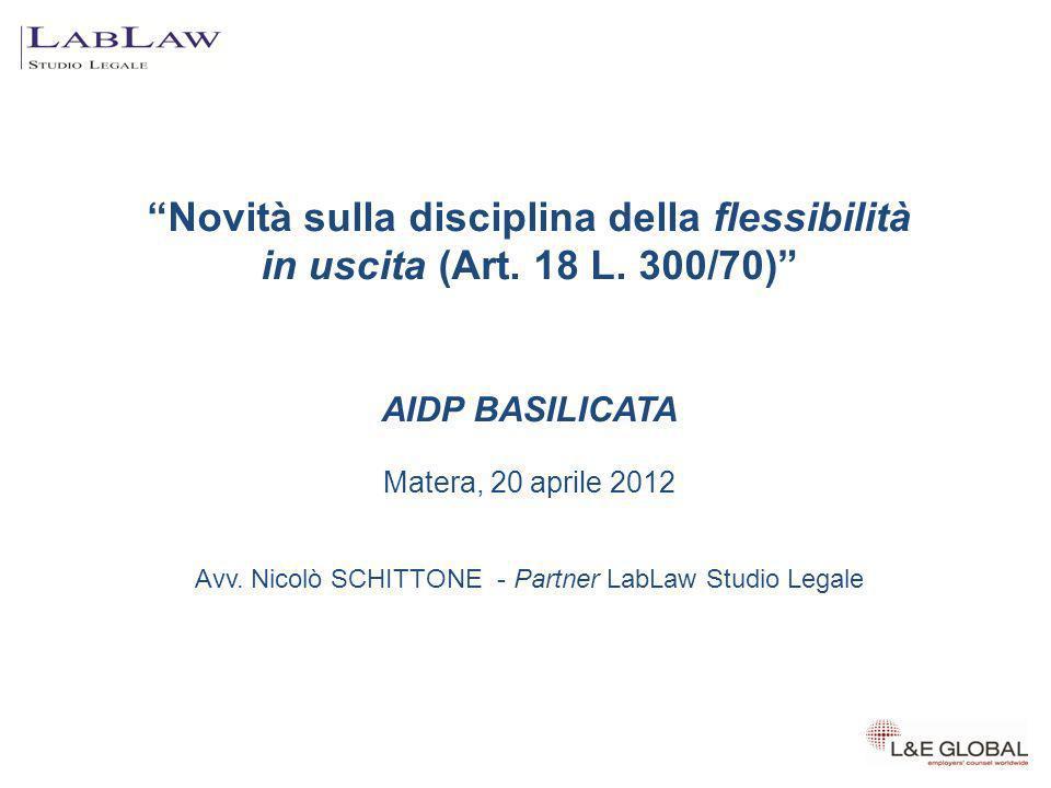 Avv. Nicolò SCHITTONE - Partner LabLaw Studio Legale