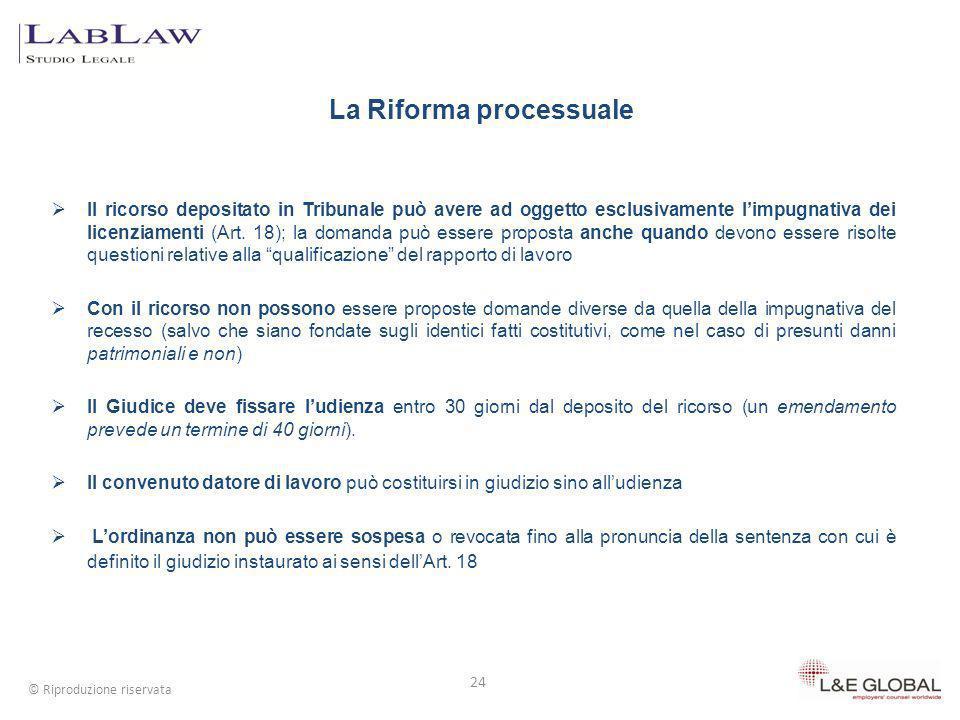 La Riforma processuale
