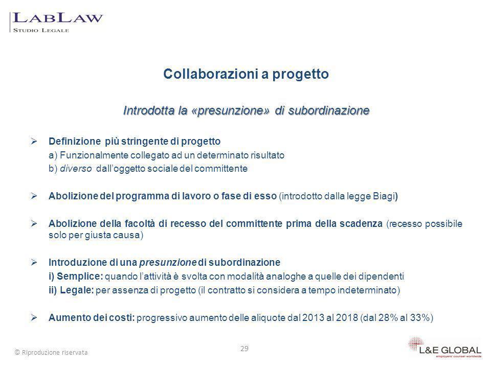 Collaborazioni a progetto