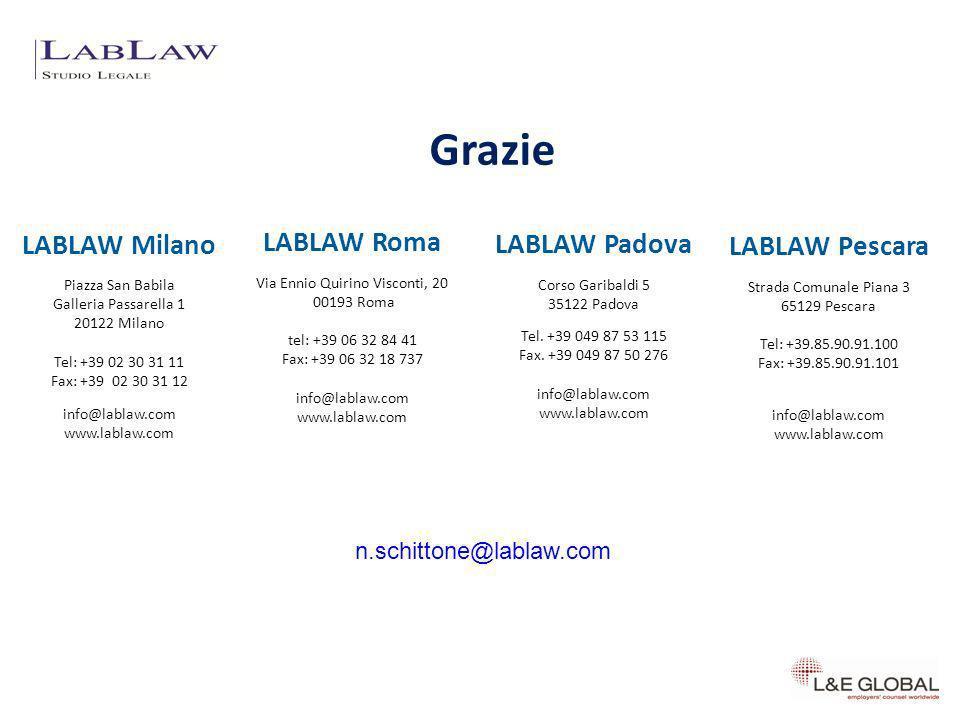 Grazie LABLAW Milano LABLAW Roma LABLAW Padova LABLAW Pescara