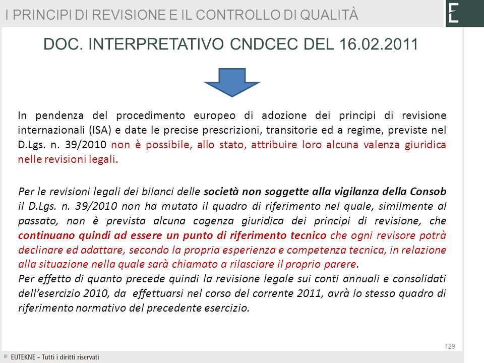 DOC. INTERPRETATIVO CNDCEC DEL