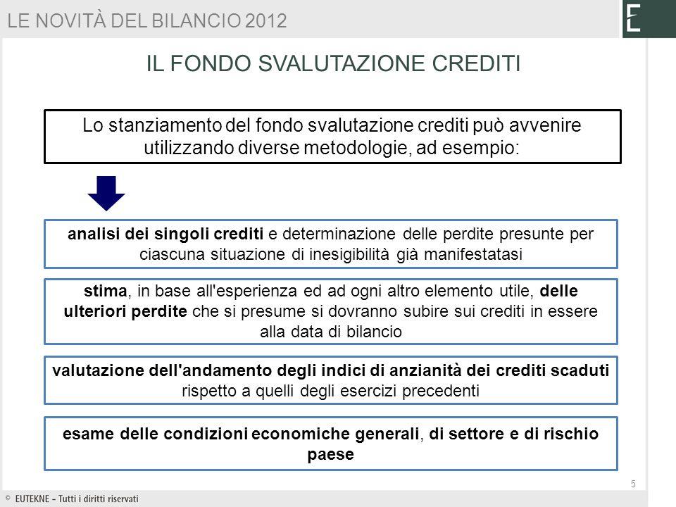 Le novit del bilancio 2012 ermando bozza ppt scaricare - Crediti diversi in bilancio ...