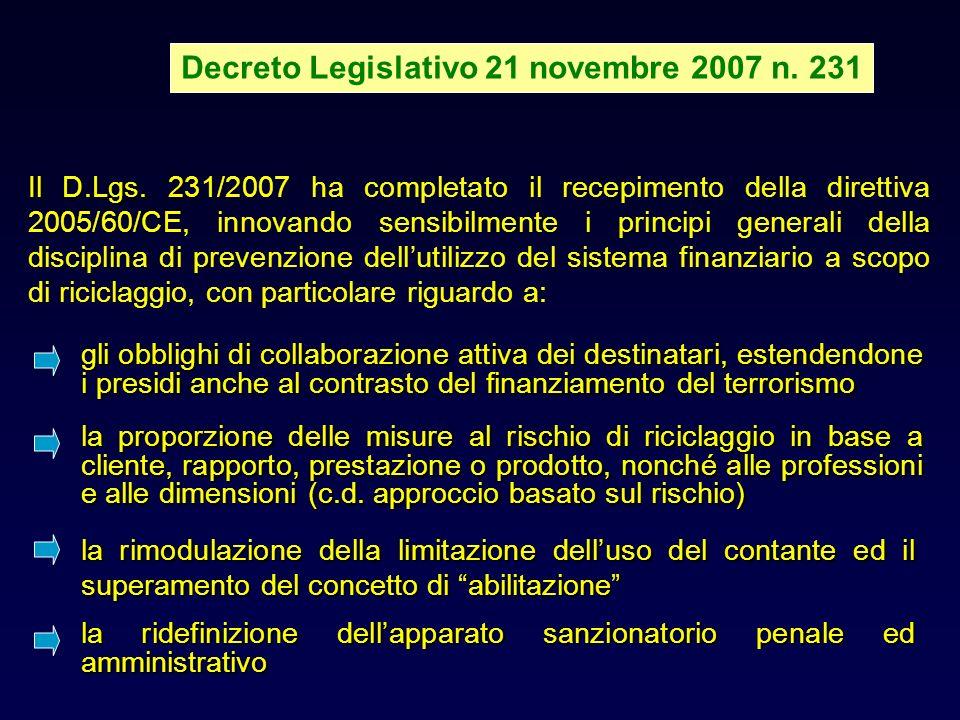 Decreto Legislativo 21 novembre 2007 n. 231